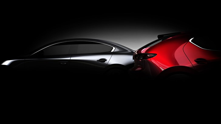 Mazda Teases 2019 3 Hatch & Saloon Ahead Of LA – Gallery
