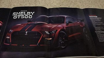 The 2020 Ford Mustang GT500, Leaking Profusely In Print