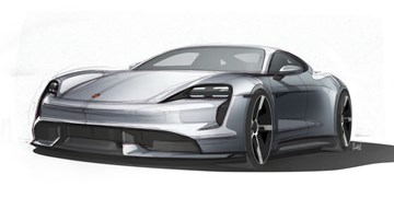 New Sketch Teases Porsche Taycan EV In Production Guise