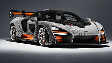 McLaren Senna Turned Into A Full-Size LEGO Model – Gallery