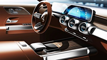 Mercedes-Benz Teases Concept GLB Cabin – Gallery
