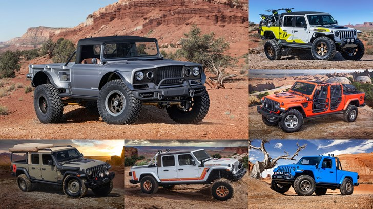Jeep Brings 6 Concept Utes To Moab Easter Safari –Gallery