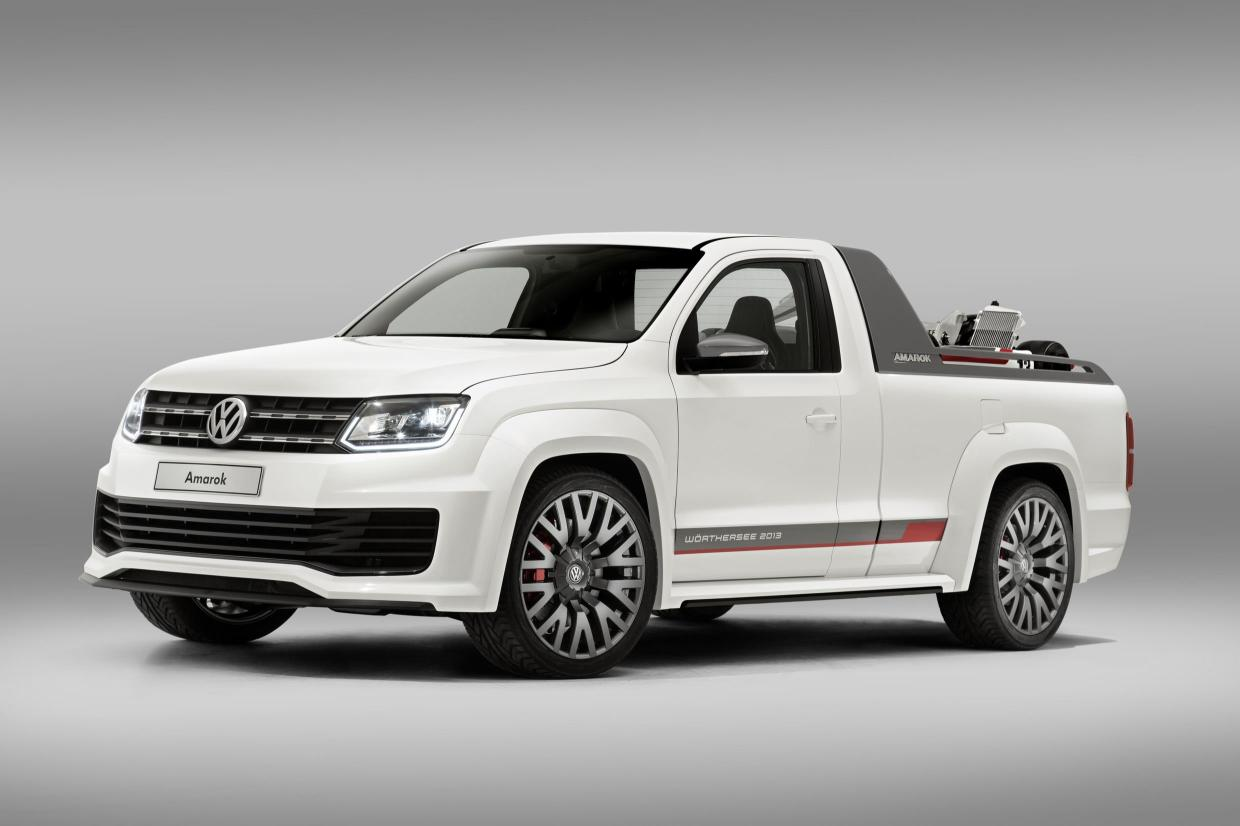 news racy v6 volkswagen amarok concept. Black Bedroom Furniture Sets. Home Design Ideas