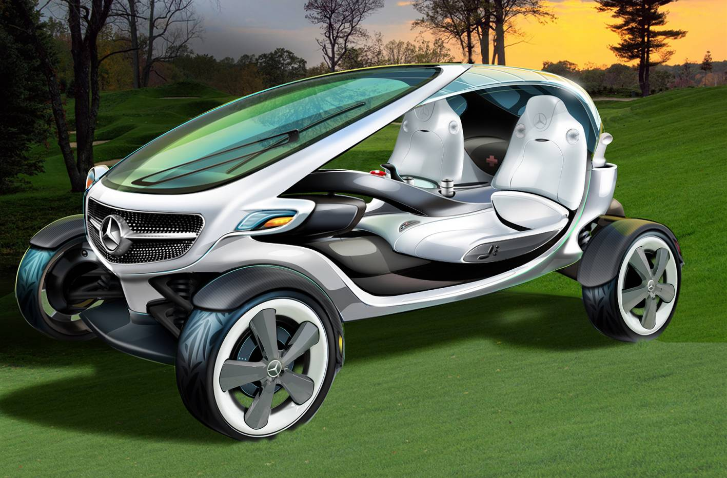 News Mercedes Benz Unveils Its Golf Cart For The Future