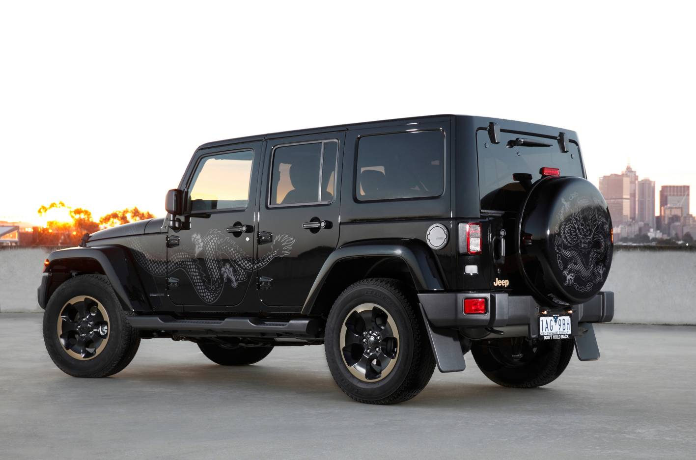 news jeep launches wrangler dragon. Black Bedroom Furniture Sets. Home Design Ideas